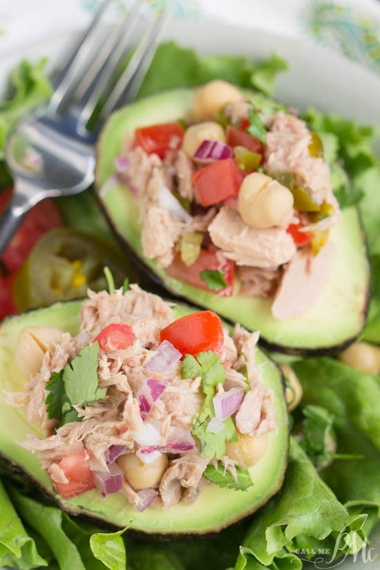 Avocado Filled Canned Tuna Ceviche Salad a lighter lunch option that's full of nutrients and flavor. I received free samples of Chicken of the Sea Chunk Light for the purpose of this post and created this simple, healthy, and low calorie lunch recipe.
