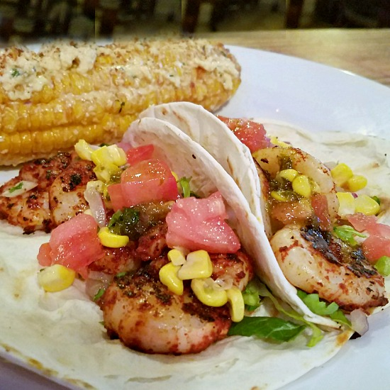 Local Eats | Where to Eat in Tupelo MS Blue Canoe Shrimp Tacos Mexican street corn