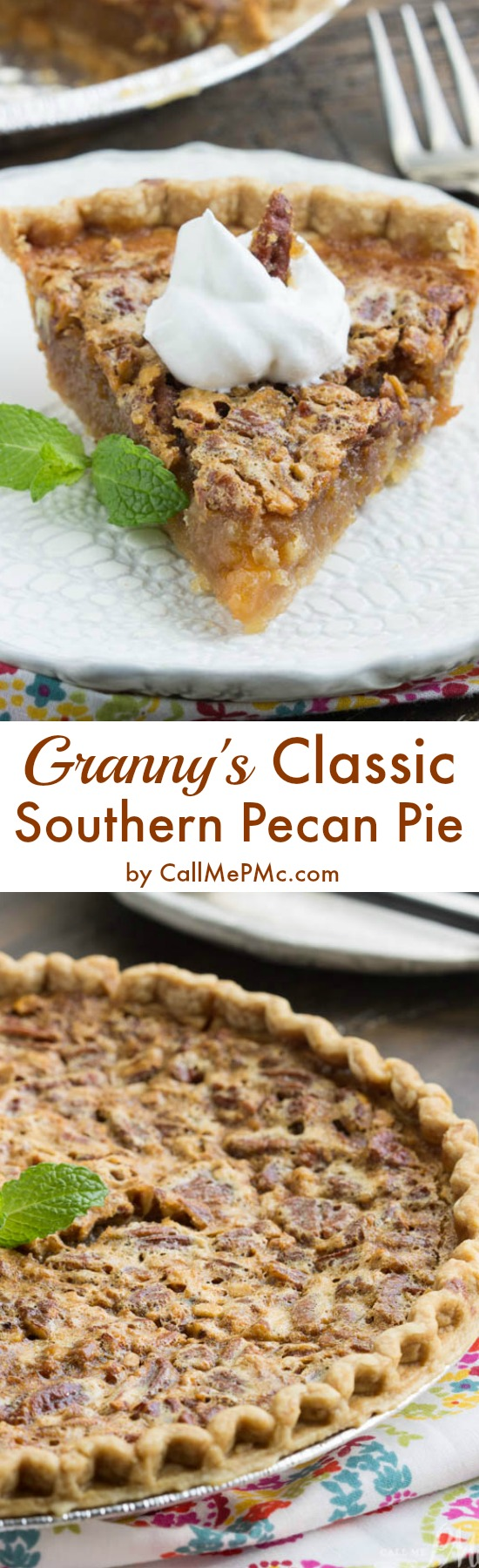 super simple crowd-pleasing dessert recipe. Granny's Classic Southern Pecan Pie This delicious pie is a holiday staple in most Southern celebrations with the crunchy pecans, caramel-like nougat, and buttery flaky crust.