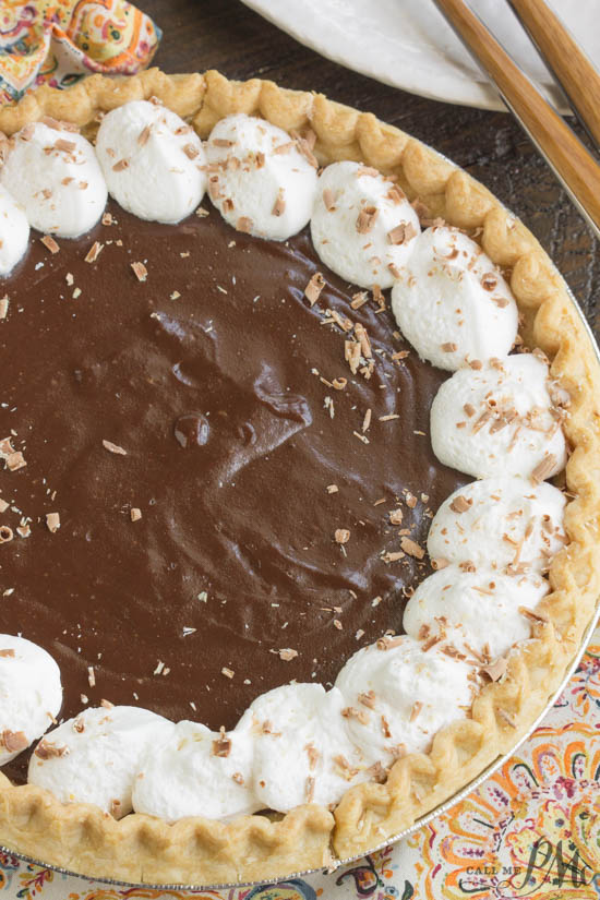 Mama's Famous From Scratch Chocolate Pudding Pie