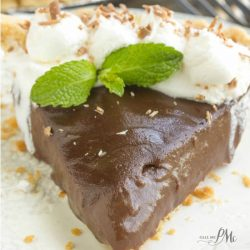 Mama's Famous From Scratch Chocolate Pudding Pie is silky, luscious, and velvety. This classic recipe is super easy and can be made in less than 30 minutes.