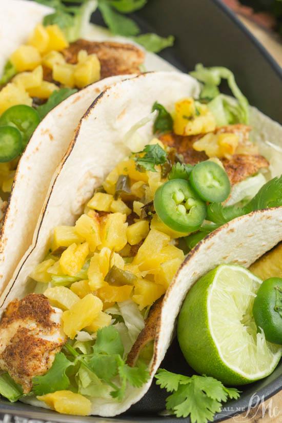 Caribbean jamaican jerk fish tacos with lime crema call for Jamaican fish recipes