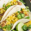Caribbean Jamaican Jerk Fish Tacos with Lime Crema