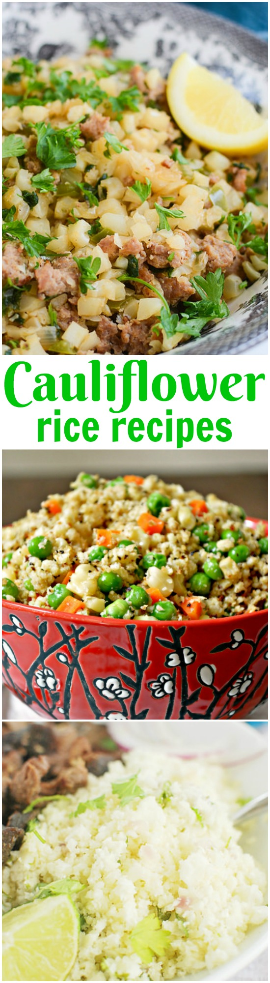 Not only is cauliflower rice good for you, it tastes good too! I put together a collection of some of the Tastiest Cauliflower Rice Recipes.