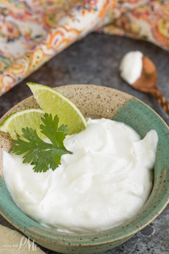 Lime Crema for Tacos