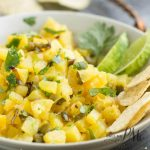 Sweet, and spicy, Roasted Pineapple Salsa Recipe, is an explosion of flavors that perks up any food. This salsa is vibrant, delicious, and hits all the flavor notes.
