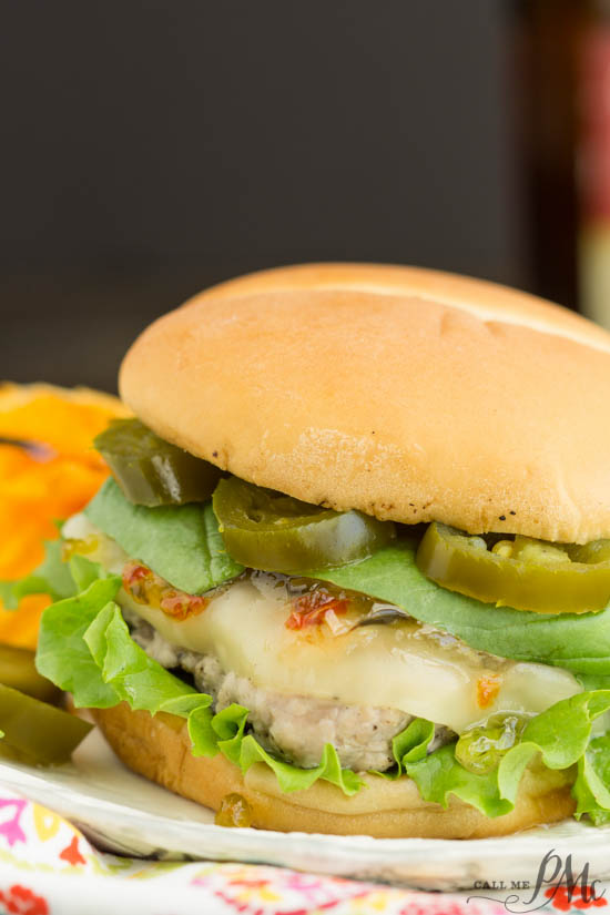 Burger. Spicy Jalapeno Pepper Jelly and Basil Sauce Pork Burgers is a fresh and delicious spin on a hamburger recipe. A peppery and spicy sauce beautifully flavors ground pork burgers.