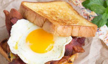 Boy Scout Campout Bacon Hash Brown Breakfast Sandwich