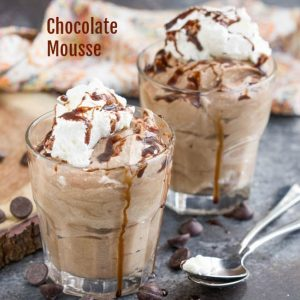 Fluffy and creamy my easy Homemade Chocolate Mousse with Cocoa Powder and Whipping Cream is simple to make and delicious!