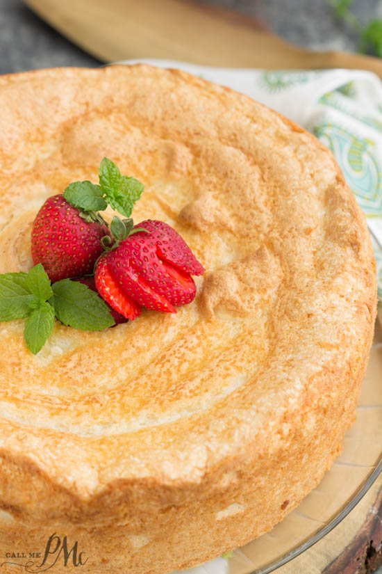 Traditional 12 egg white angel food cake call me pmc traditional 12 egg white angel food cake recipe is light moist fluffy and a lot easier than you think to make forumfinder Images