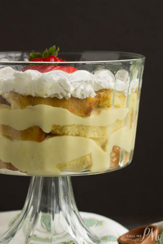 Cake. Dessert. From Scratch Punch Bowl Pound Cake Trifle has layer after layer of cake, pudding, whipped cream, and fruit; it makes an easy and elegant dessert recipe. Light and simple to make, it is so delicious!