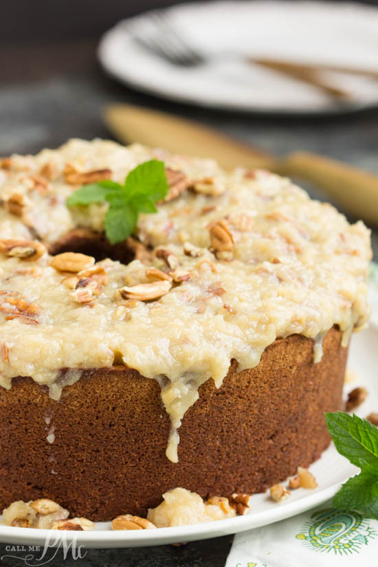 Holiday. recipe. chocolate. Not your traditional German Chocolate Cake, my German Chocolate Pound Cake with Coconut Pecan Frosting recipe is full of rich chocolate then topped with a sweetened coconut and toasted pecan icing.