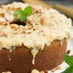 German Chocolate Pound Cake with Coconut Pecan Frosting
