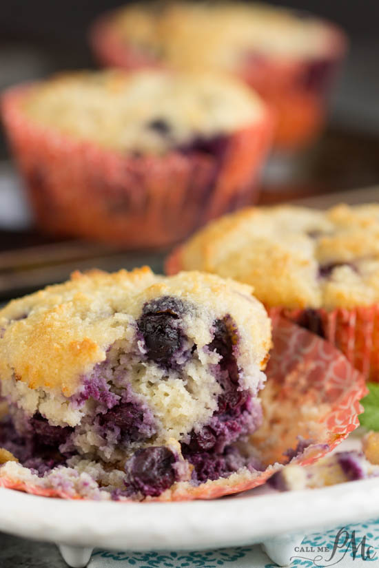 Healthiest Blueberry Muffins contain coconut oil, Greek yogurt, gluten free flour and have loads of flavor.