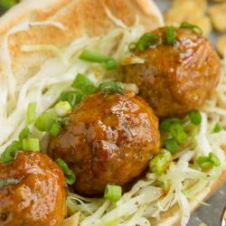 Nashville Hot Chicken Meatball Sandwich is sweet, spicy, and full of flavor. This meal also takes less than 30 minutes to prepare and is hearty and satisfying.