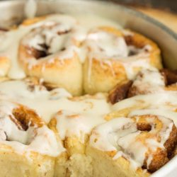 Quick Biscuit Dough Cinnamon Rolls recipe, tender buttermilk biscuit dough if filled with a buttery cinnamon sugar mixture in these no-yeast, no-wait breakfast treat!