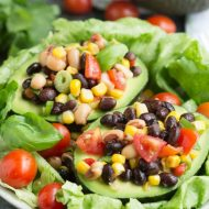 Black Eyed Pea Salad Stuffed Avocados
