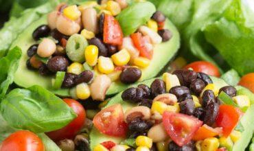 Black Eyed Pea Salad Stuffed Avocados