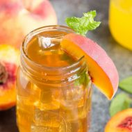 Bourbon Peach Tea Cocktail