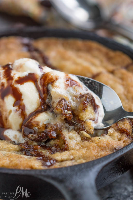 Pan cookie. Your answer to a cookie craving! Crave Tupelo Deluxe Chocolate Chip Skillet Cookie has perfectly crispy edges with a gooey, chewy center.