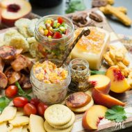Southern Inspired Charcuterie Board with Black Eyed Pea Salsa