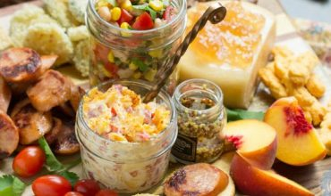 Southern Inspired Charcuterie with Black Eyed Pea Salsa
