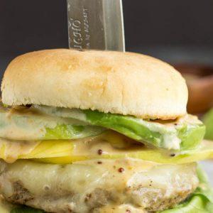 Caribbean Teriyaki Turkey Burger with Kickin' Mayonnaise