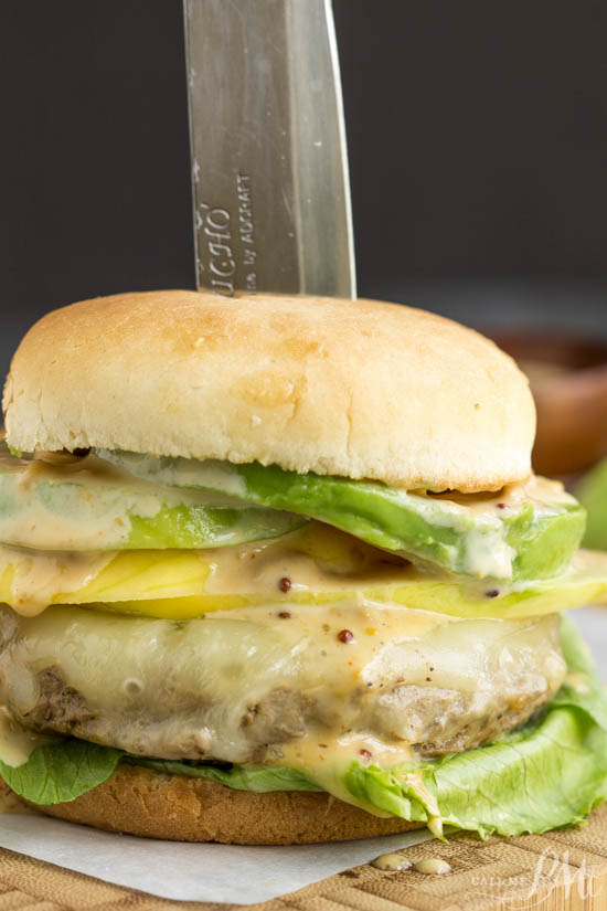 Perfect, thick, juicy, Caribbean Teriyaki Turkey Burger with Kickin' Mayonnaise is generously layered with flavors of the Caribbean. They are easy, healthy, low calorie and high protein. recipe.