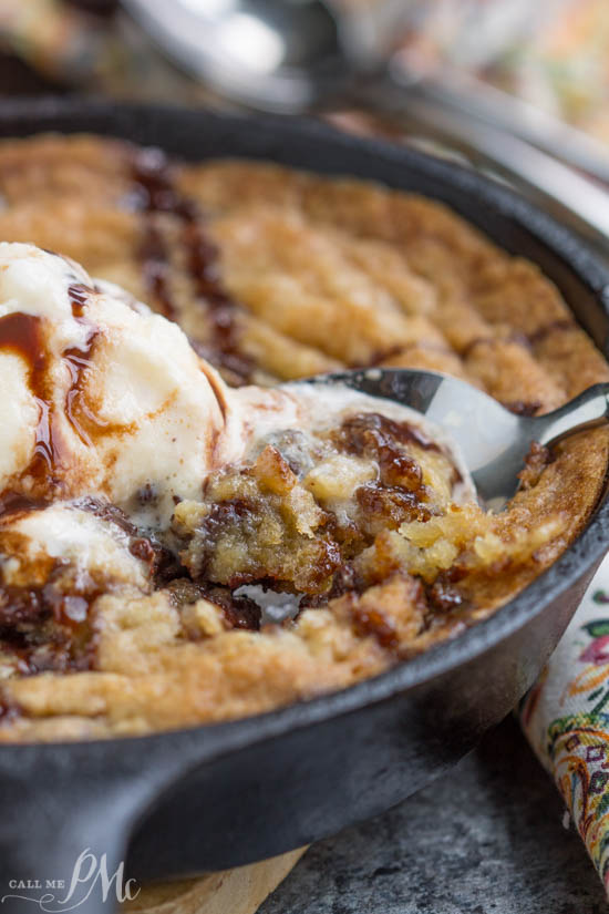 Your answer to a cookie craving! Crave Tupelo Deluxe Chocolate Chip Skillet Cookie has perfectly crispy edges with a gooey, chewy center.