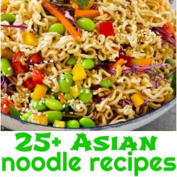 For all Asian loving, noodle loving foodies out there, I put together this incredible collection of 25+ Asian Noodle Recipes that are Easier than Takeout!