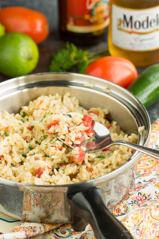 Easy Mexican Rice. An authentic tasting Mexican rice that compliments any Tex Mex entree.