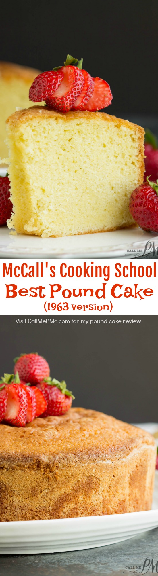 McCall's Best Pound Cake 1963 Version is tender and buttery with a classic vanilla flavor. Yes, there is a later version that I'll be making and sharing my thoughts on it at a later day.