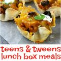 1 Month of Lunchbox Ideas for Tweens and Teens