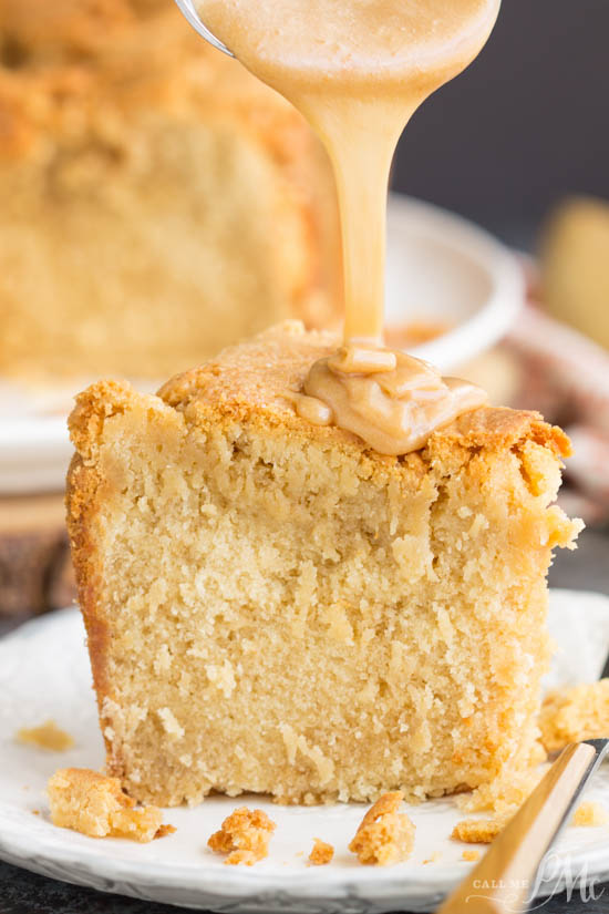 Melt-in-your-mouth good, Cookie Butter Pound Cake is luscious and rich. The cookie butter gives it almost a brown sugar or caramel flavor.