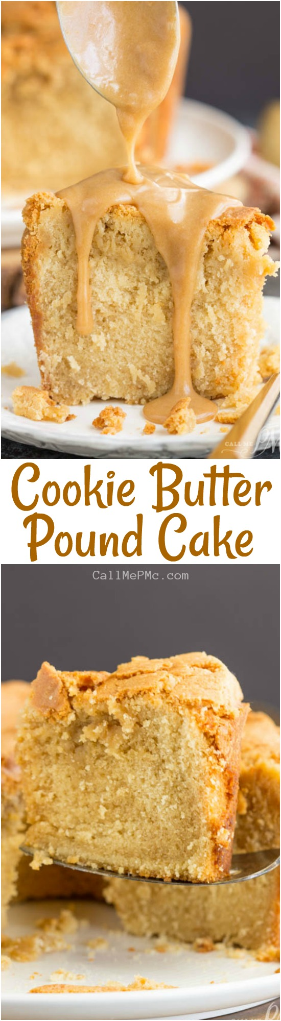 Melt-in-your-mouth good, Cookie Butter Pound Cake is luscious and rich. The cookie butter gives it almost a brown sugar or caramel flavor