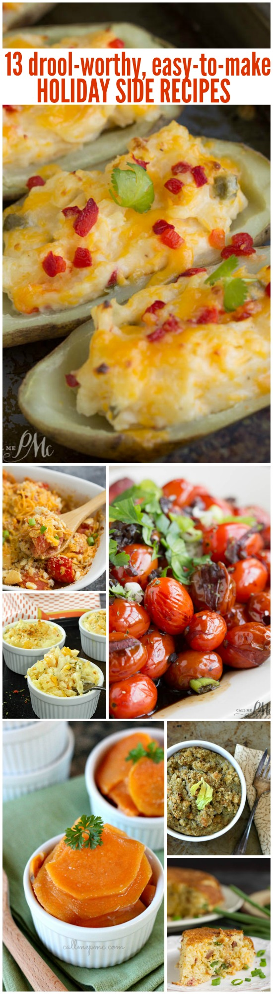 drool-worthy, easy-to-make holiday sides - Easy to Make Holiday Side Dish Recipes. They are comprised of a combination of delicious holiday side dish recipes that are perfect for Thanksgiving or Christmas celebrations.