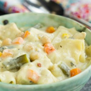 Chicken Pot Pie Lasagna Soup Recipe