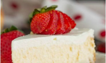 Woodford Reserve Bourbon Eggnog Cheesecake with Vanilla Wafer Crust
