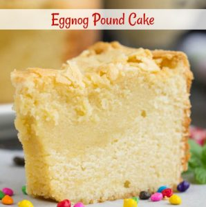 Use your favorite eggnog to make this buttery Eggnog Pound Cake. Combining the flavors of eggnog in a pound cake will get you rave reviews at your holiday celebrations.