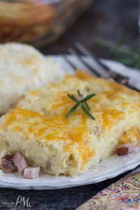 Ham Hashbrown Casserole is an easy, cheesy, hearty breakfast recipe that's loaded with tasty ingredients and no 'cream of' anything soups. It is the ultimate comfort food and great for breakfast, or at any meal!
