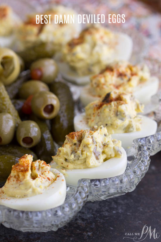 Best Damn Deviled Eggs are creamy and tangy. Classic deviled eggs are easy to make, so delicious, and a flavor bomb appetizer! #eggs #deviledegg #stuffedegg #appetizer #recipe #easy #Southern #withrelish #best #dill #fancy via @pmctunejones