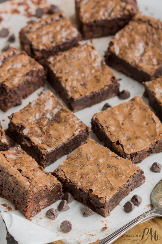 The Best Chewy Fudgy Homemade Brownies Recipe is quick and easy to whip up. They are made with basic ingredients you probably keep in the pantry. Therefore, they do not require a special trip to the grocery store or unique ingredients.
