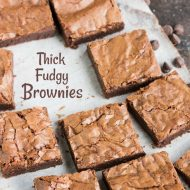 Thick Fudgy Ultimate Brownies