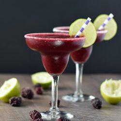 Frozen Blackberry Margaritas