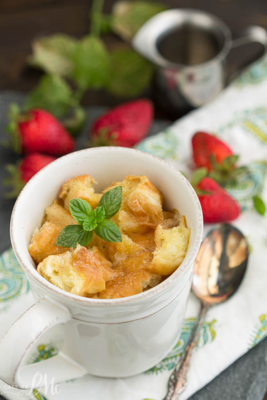 Bread Pudding in a mug. Five ingredients is all it takes to make Bread Pudding for Two in Mugs from scratch to satisfy that sweet tooth and avoid the temptation of overindulging.