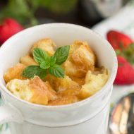 Bread Pudding for Two in Mugs