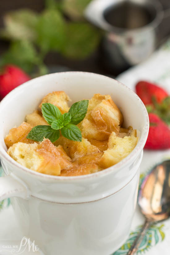 Bread Pudding in a mug. dessert recipe. Five ingredients is all it takes to make Bread Pudding for Two in Mugs from scratch to satisfy that sweet tooth and avoid the temptation of overindulging.