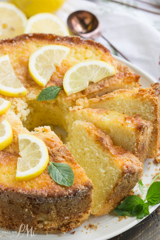 The Famous Ritz Carlton Hotel Lemon Pound Cake has a fine crumb texture and bright lemon flavor. This classic lemon pound cake is supremely moist & tender! It's the perfect finale to dinner!