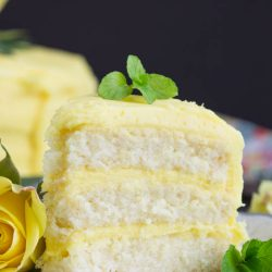 Lemon Layer Cake with Lemon Curd and Lemon Buttercream