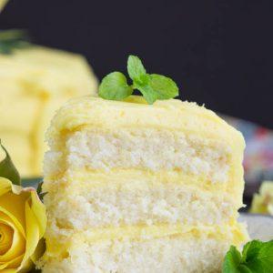 Lemon Layer Cake with Lemon Curd and Lemon Buttercream